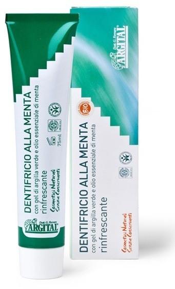 Argital Odświeżająca pasta do zębów z miętą i zieloną glinką ARG 016