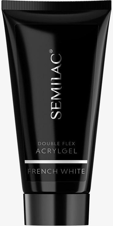 Semilac Diamond Cosmetics Akrylożel Double Flex Acrylgel French White 60ml