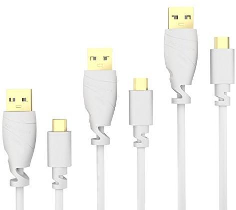 KabelDirekt Przewód 3X bezpośrednio kabel micro-USB 2.0Top Series, biały 849