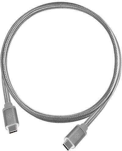 SilverStone SST-cpu06 °C-1000 notowano odwracalnej, USB 3.1 Gen 2 Typ C na typ C, wyjątkowo trwałe dzięki płaszcz z plecionki nylonowej, kabel USB do telefonów komórkowych i urządzeń pamięci masowej, 52035