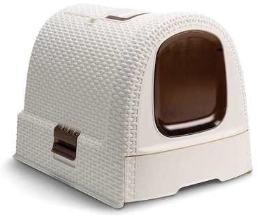 Curver toaleta dla kota 51x38,5x40cm kremowy brązowy 198849