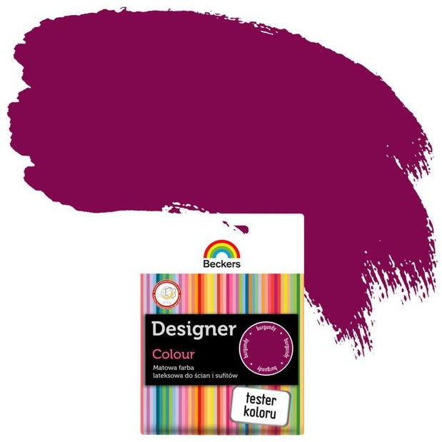 Beckers Tester farby DESIGNER COLOUR Burgundy