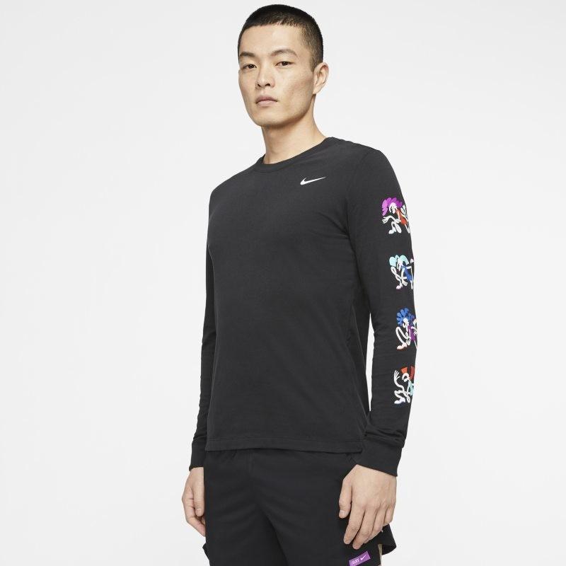Nike Męski T-shirt z długim rękawem Dri-FIT Tokyo - Czerń CN8101-010