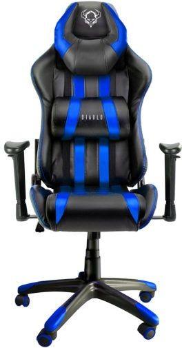 Diablo Chairs Fotel Diablo Chairs X-One Horn Czarno-niebieski