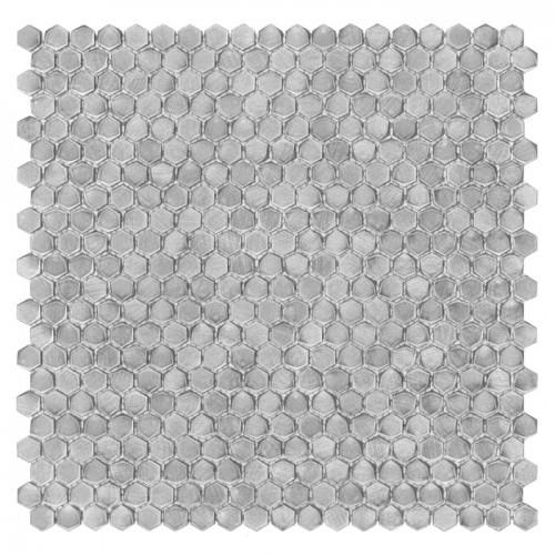 Dunin Allumi Silver Hexagon 14 mozaika metalowa srebrna