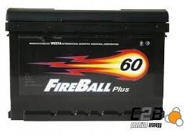 FireBall 12V 60Ah 480A P+