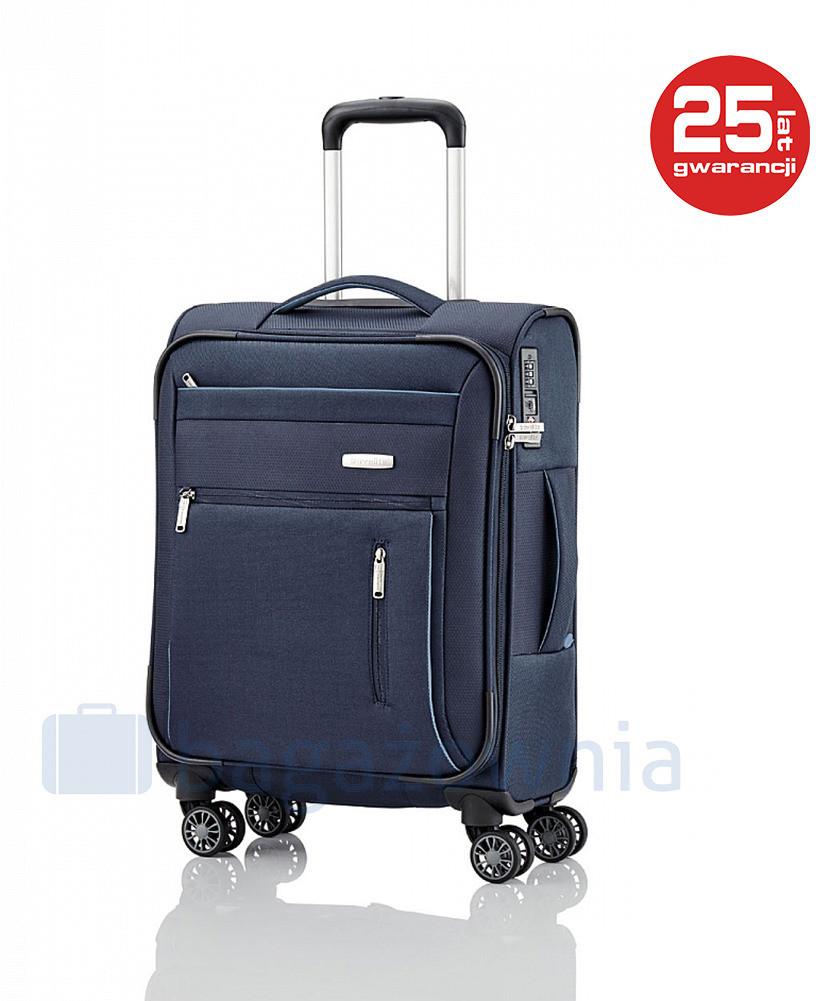 0ada56bb71f92 Travelite Mała kabinowa walizka CAPRI 89847-20 Granatowa - granatowy  89847-20