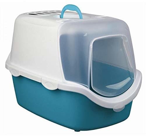 Trixie Vico kuweta dla kota, łatwa w czyszczeniu, niebiesko-biała