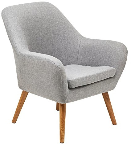 AC Design Furniture krzesło tapicerowane Rio materiału z podłokietnikami i drewnianych nogach Strobo 58943
