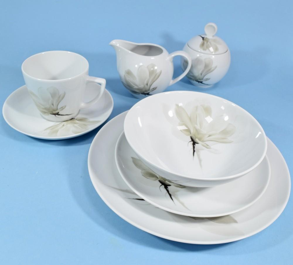 Lubiana S.A.Zakłady Porcelany Stołowej KOMPLET NACZYŃ 6/32 BOSS/BEATA/DOROTA/VENUS 6474 MAGNOLIA 32044RA01439101
