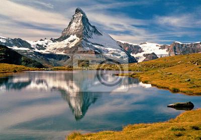 Jamie & Judy Wild/Danita Delimont Fototapeta alpejski, listowie, jezioro, Matterhorn, odzwierciedlić