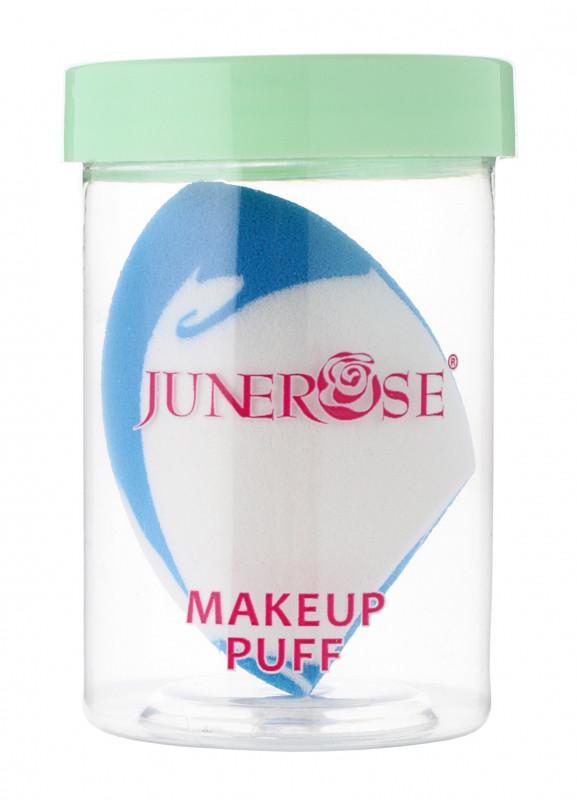 Junerose JUNEROSE - MAKEUP PUFF - Gąbka do makijażu typu blender + lusterko - BIAŁO-NIEBIESKA JUNMGMBLU-ERLU-02