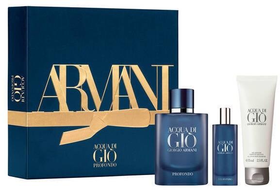 Giorgio Armani Giorgio Giorgio Acqua Di Gio Profondo 75ml edp + 15ml edp + 75SG 93412-uniw