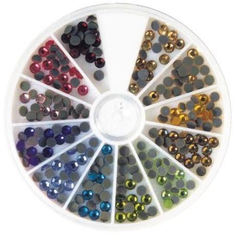 Strasy hot-fix, 4mm, różne kolory, op.240szt. [15-129-999] 15-129-999