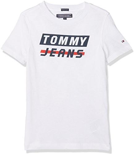 Tommy Hilfiger chłopcy T-Shirt AME Bold logo Tee S/S -  krój regularny B078NCTX2F