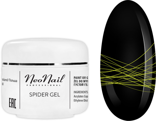 Neonail SPIDER GEL NEON YELLOW 5ML