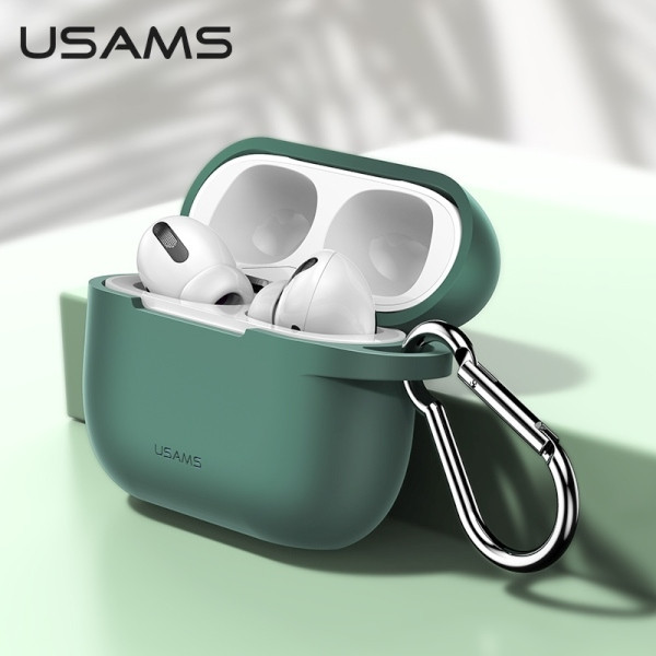 USAMS USAMS Etui ochronne do AirPods Pro silicon zielony/green BH568AP05 (US-BH568)