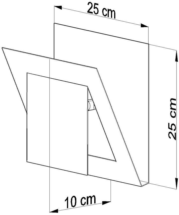 Sollux Lighting Lampa kinkiet Nazaria kwadrat, biała, 40 W