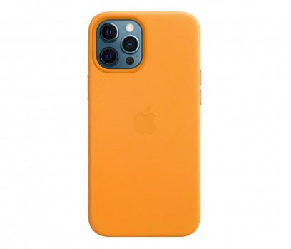 Apple Skórzane etui iPhone 12 Pro Max kalifornijski mak
