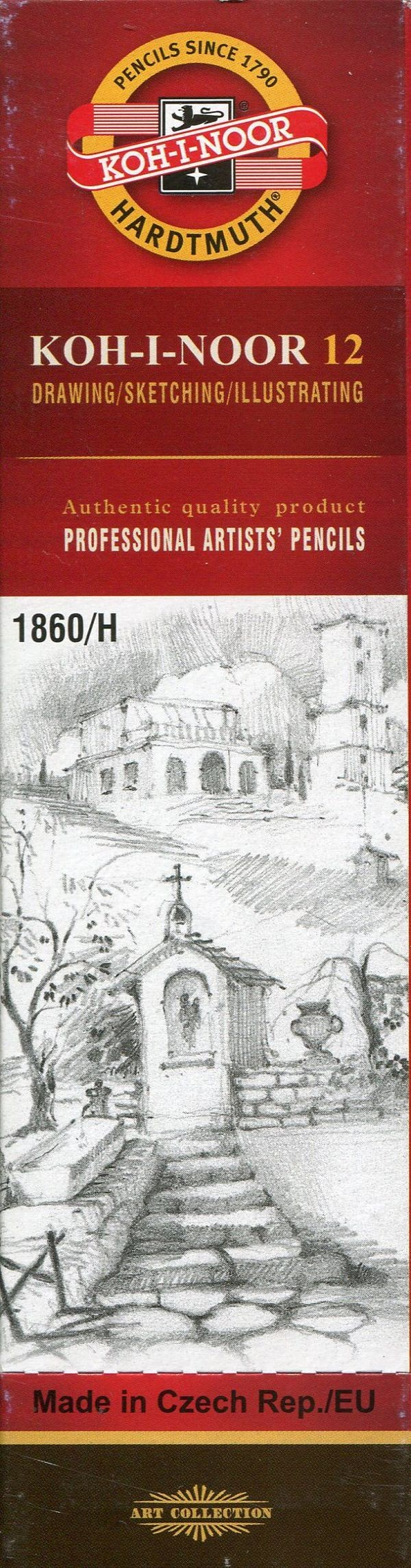 Koh-I-Noor Koh-I-Noor Ołówek grafitowy 1860/H1 Gold Star 12 szt