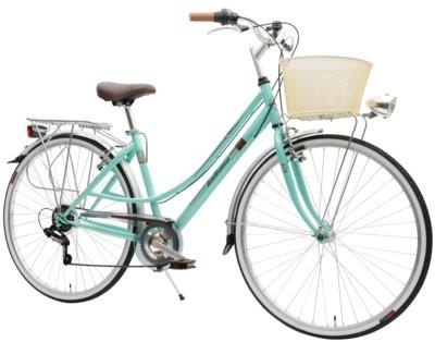 Indiana Rower miejski z koszykiem Perla 28 7B Zielony