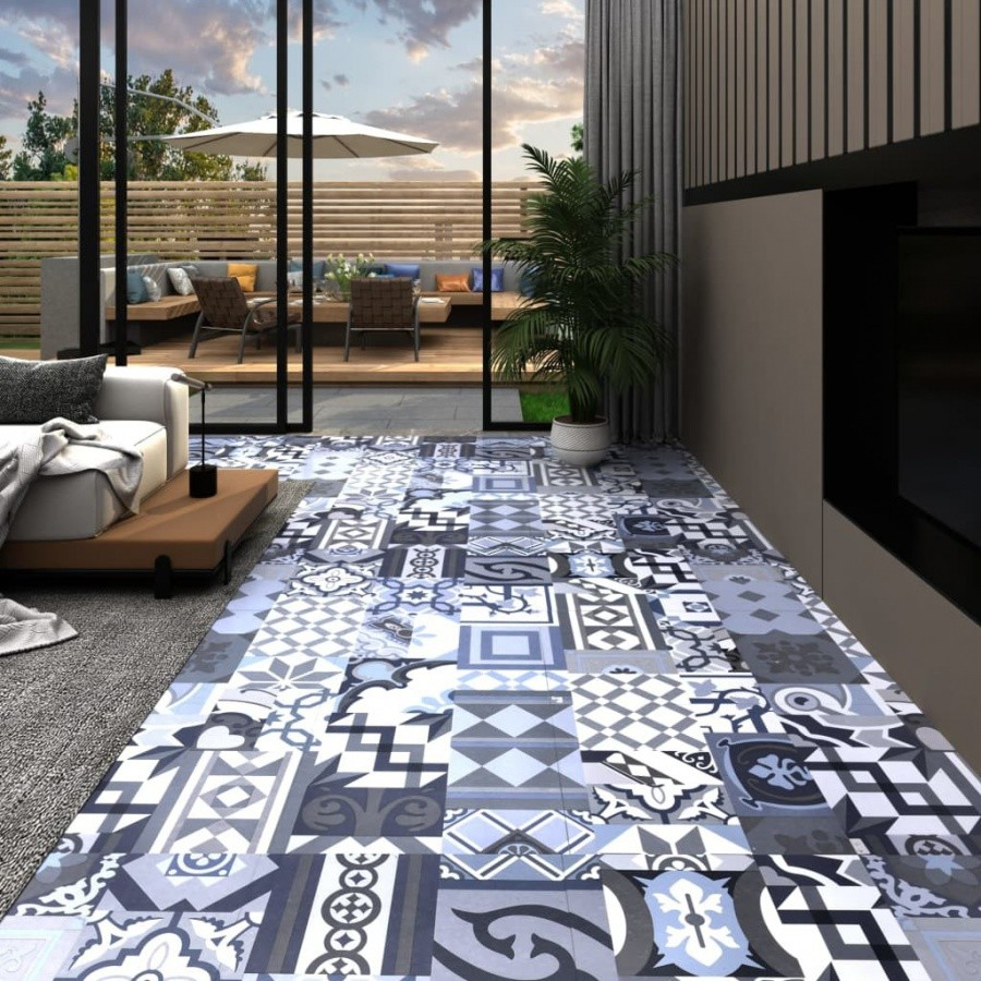 Vida Panel podłogowy PVC samoprzylepny 5,11 m kolorowy V-146613