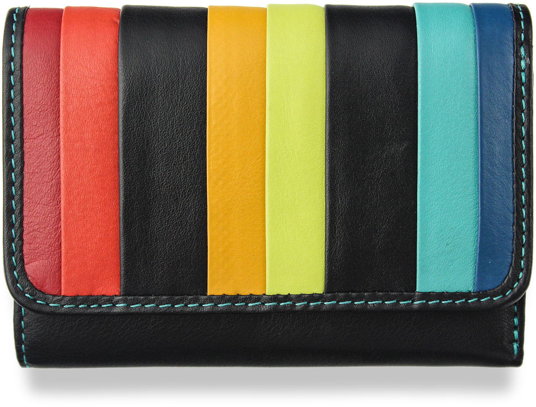 dafc2449ad013 Visconti Portfel Damski Skórzany Santorini RFID STR-3 Black Multi