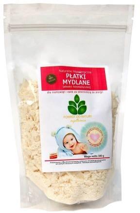 Mydlarnia Płatki mydlane naturalne hipoalergiczne jakości kosmetycznej dla niemowląt i osób ze skłonnością do alergii 300g