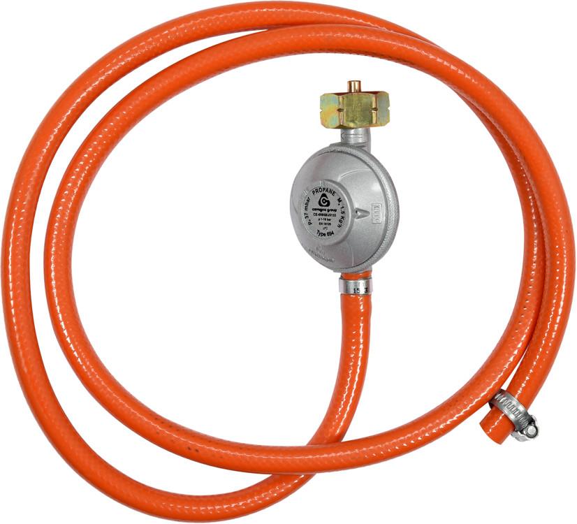 Vorel Reduktor gazowy z wężem 1,5m do podłączenia butli gazowej z grillem kuchenką piecykiem itp 99671 ZYSKAJ RABAT 30 ZŁ 99671