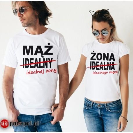Poczpol Koszulki dla par - mąż i żona