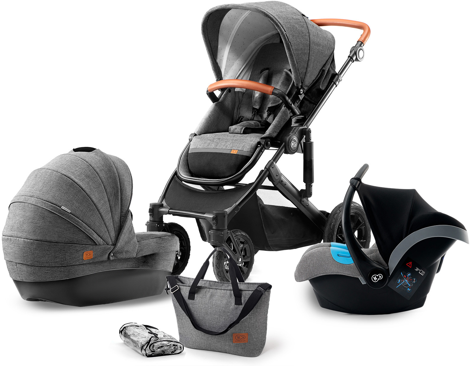 KinderKraft PRIME 3w1 Grey