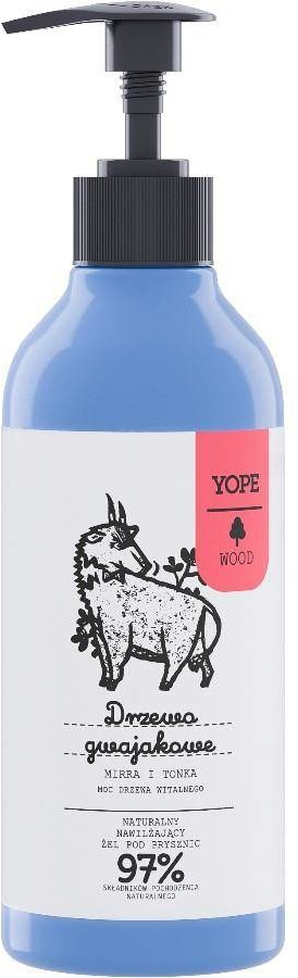 YOPE Wood, żel pod prysznic Drzewo Gwajkowe, mirra 800-004852