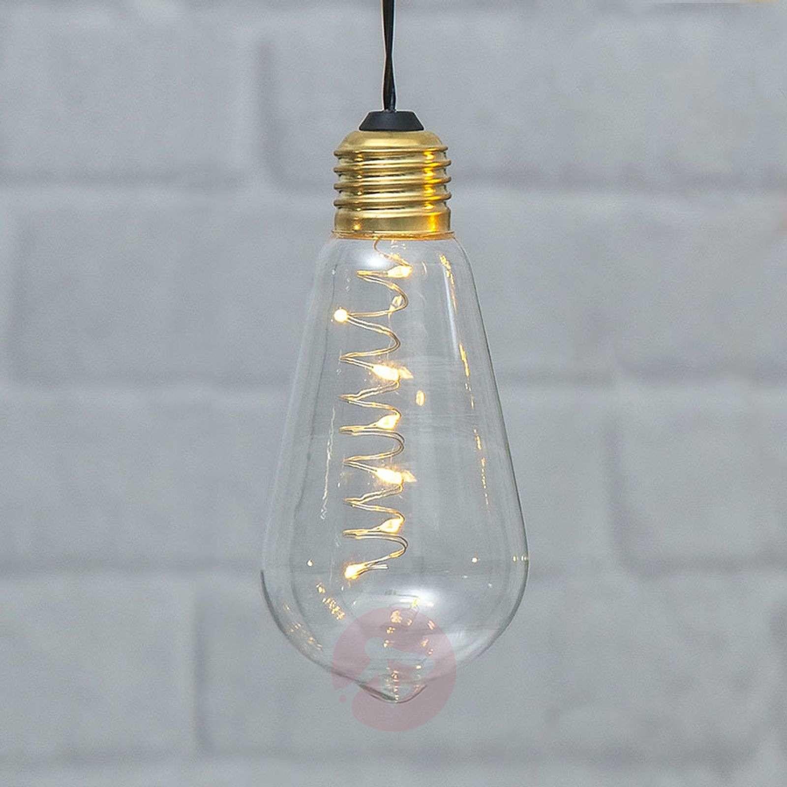 Best Season Vintage-LED-Dekoleuchte Glow mit Timer, klar