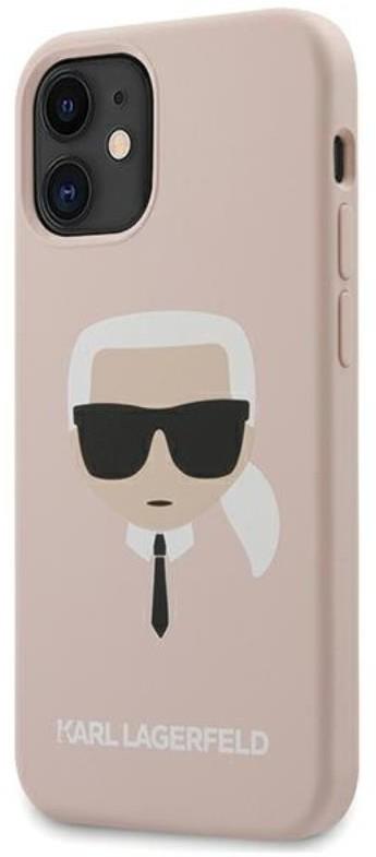Karl Lagerfeld Silicone Ikonik Karl`s Head - Etui iPhone 12 mini (różowy) 3700740482742