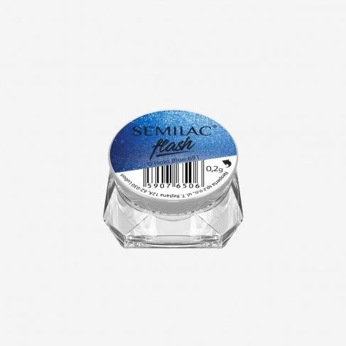 Semilac Flash Holo Blue 691