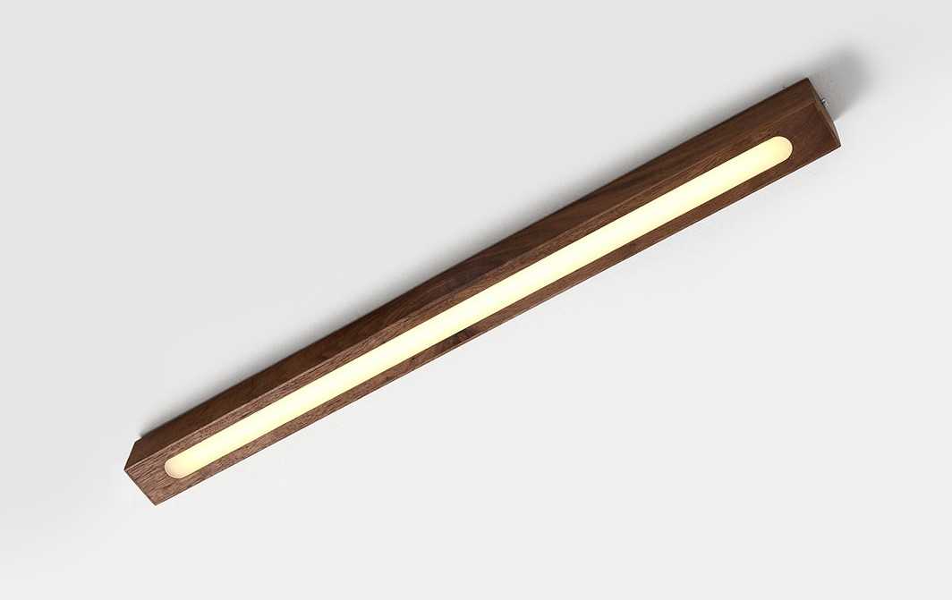 Customform Plafon LINE PLUS M WOOD LOW - orzech LP030LINPLUSPLWOOL-M-30