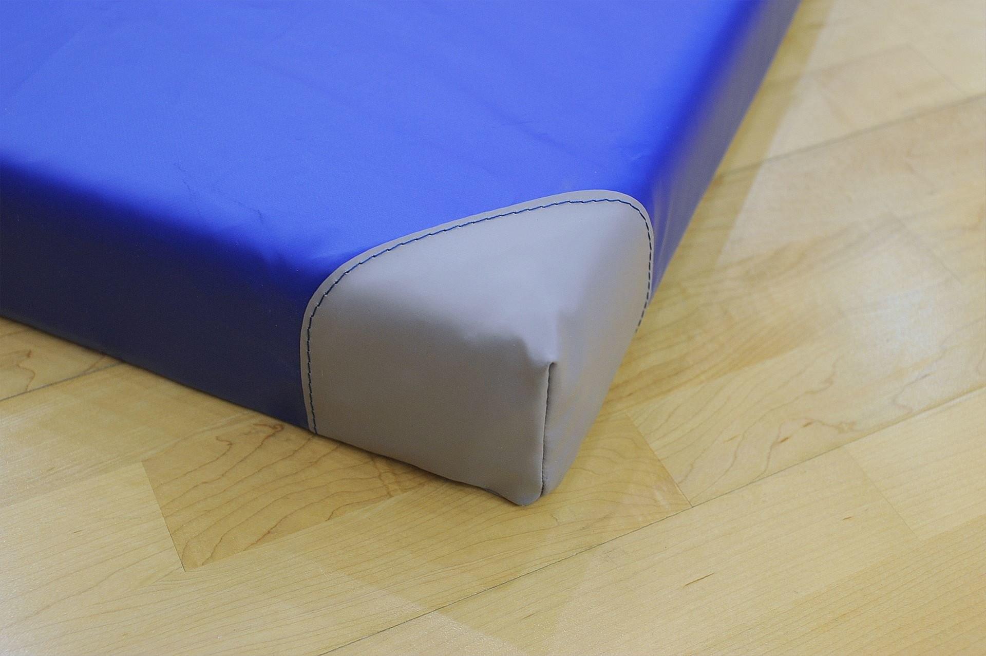INTERPLASTIC Materac gimnastyczny Antypoślizgowy z narożnikami niebieski