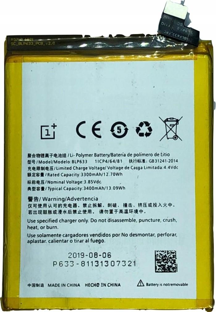 Oryginał Bateria Oneplus 6T BLP685 Swieżynka