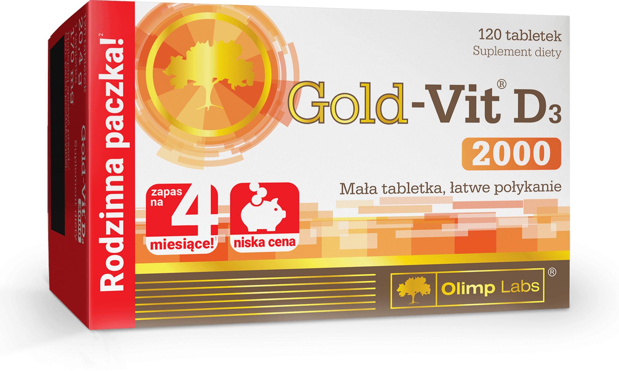 Olimp LABS gold-vit D3 2000 x 120 tabl