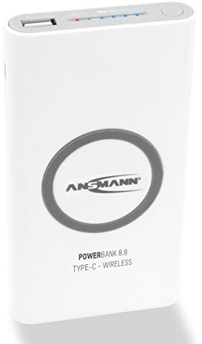 ANSMANN Ansmann Powerbank o pojemności USB i Typ C port oraz wskaźnik stanu LED/zewnętrzny dodatkowy akumulator idealny do Samsung iPhone iPad tablet Kindle w celu uzyskania dodatkowych urządzeń 1700-0098