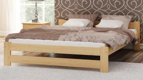 Magnat Meble Łóżko drewniane INTER 160x200 NIELAKIEROWANE SOSNA