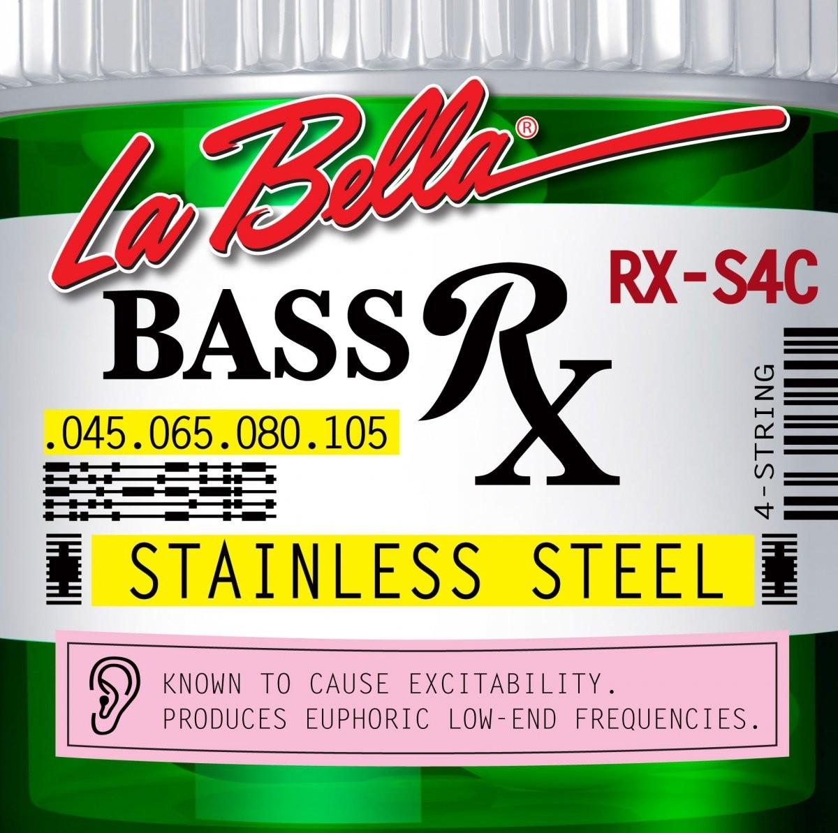 LaBella RX-S4C 45-105 stalowe struny do basu 4 strunowego