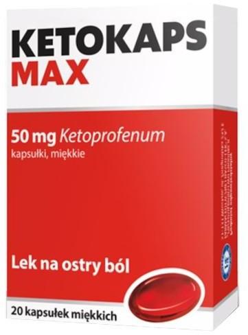 Hasco-Lek PRZEDSIĘBIORSTWO PRODUKCJI FARMACEUTYCZNEJ L Ketokaps Max 50 mg 20 kapsułek 3768722