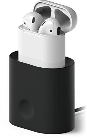 elago stojak do airpods[stacja ładująca] [wytrzymały] [Inkl. wire-Management System-]do airpods, czarny (J9C30AA)