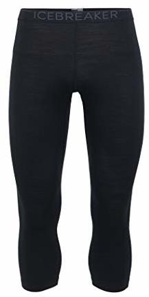 Icebreaker 200 Oasis Legless męskie spodnie funkcyjne, czarny, m