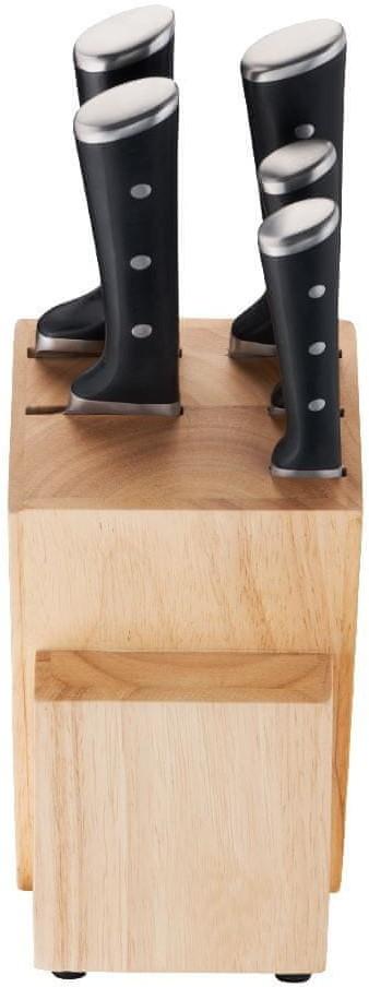 Tefal drewniany stojak na noże ICE FORCE + 5 noży K232S574
