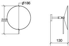 Lineabeta LineaBeta powiększające lustro ścienne modelu mosiądz chromowany, 55963.29.8X VD55963.29.8X