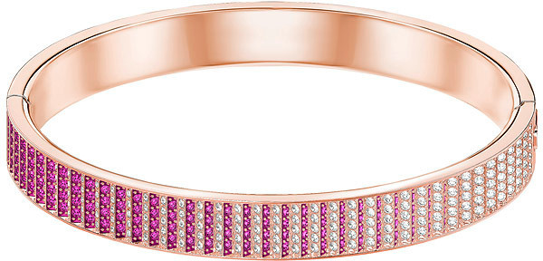 Swarovski Luxury Bangle, Pink, Rose gold plating Pink Rose gold-plated
