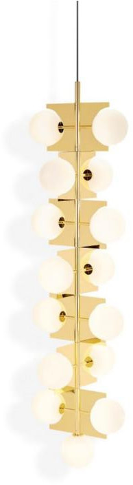 Tom Dixon Plane Drop Chandelier złoty lampa wisząca SLL05BEU