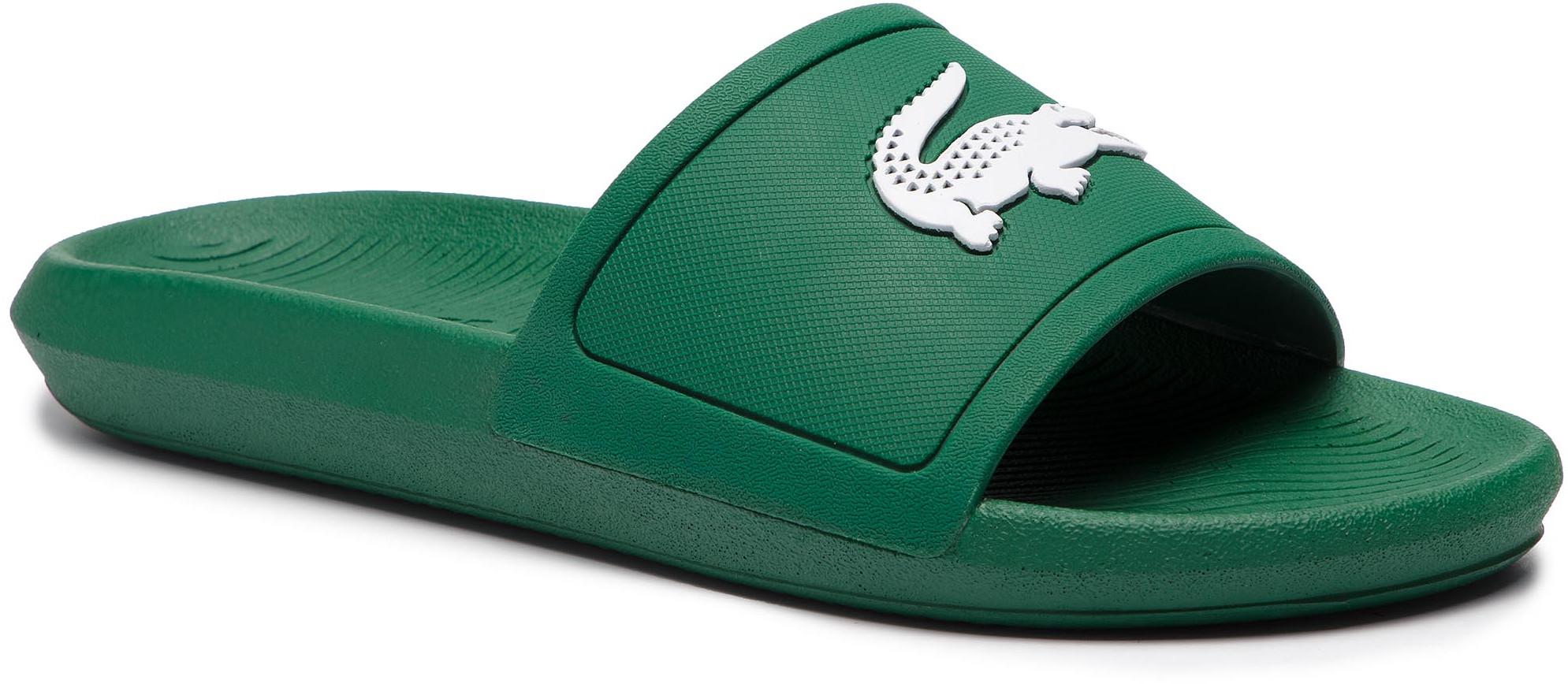 4833dbc0375f9 Lacoste Klapki Croco Slide 119 1 Cma 7-37CMA00181R7 Green/White